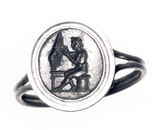 Daidalos, der arbejder på en vinge. Hellenistisk-romersk ringsten