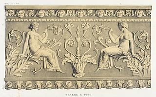 Venere e pito, efter Giovanni Pietro Campana: Antiche opere in plastica, Rom, 1842, planche XIII - Copyright tilhører Danmarks Kunstbibliotek