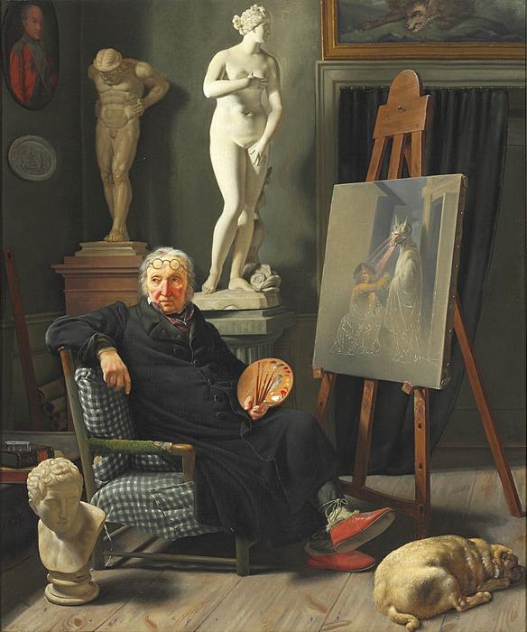 Martinus Rørbye: C.A. Lorentzen i sit atelier
