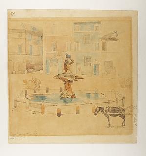Johan Thomas Lundbye. _Piazza Barberini_, 01.02.1846