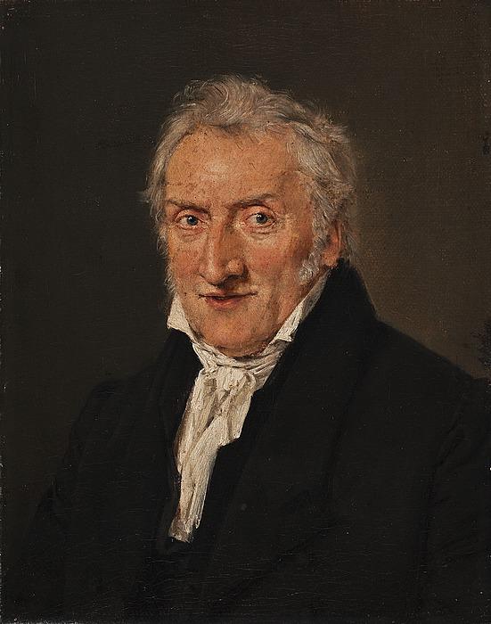 Portræt af blomstermaleren C.D. Fritzsch
