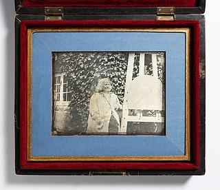 Neubourgs Daguerreotypie, gerahmt und in ihrem Etui liegend