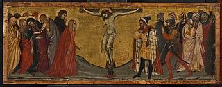 Korsfæstelsen fra predella med fremstillinger af Maria Magdalena, Kristus i Gethsemane, Korsfæstelsen, Opstandelsen og Sankt Catharina