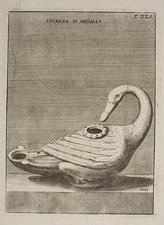 Lampe i form af en svane