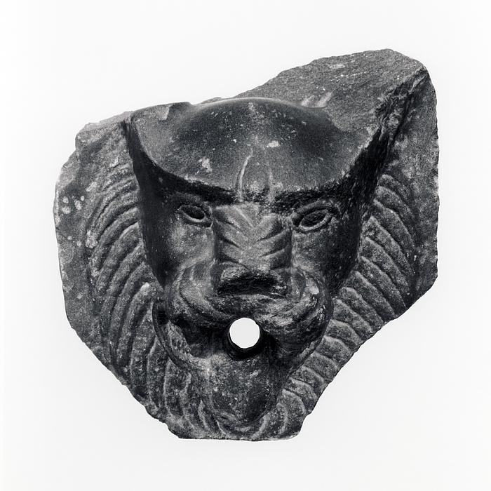 Vandspy i form af et løvehoved. Romersk