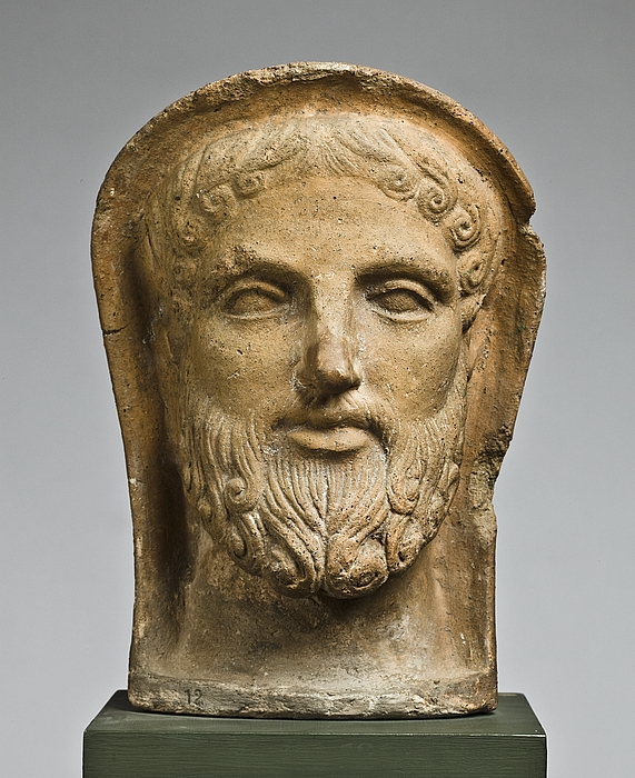 Votivhoved af en mand. Etruskisk-romersk