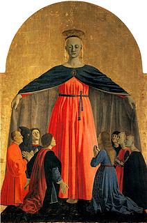 Piero della Francesca, Madonna della Misericordia, 1445-1462, Sansepolcro, Museo Civico