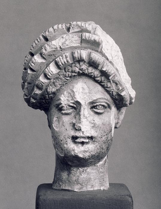 Miniatureportræt af Domitia Longina (?). Romersk