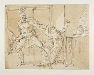 Aiax trækker Kassandra bort fra Athena statuen