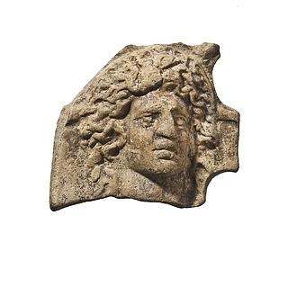 Lampe (?) med hoved af Sol. Romersk