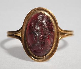 Tyche med overflødighedshorn. Græsk hellenistisk ringsten
