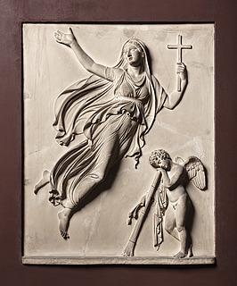 Svævende kvinde og dødens genius