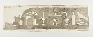 Hieroglyfindskrift, brudstykke fra forside