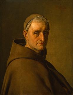 Portræt af Albert Küchler som munk