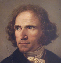 Luigi Basiletti: Wilhelm Gmelin, 1814, detalje