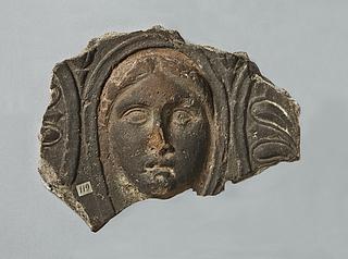 Arkitektonisk relief med kvindemaske. Romersk