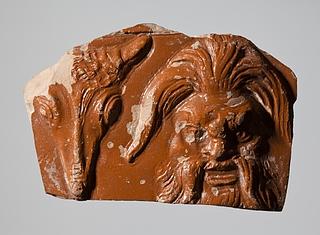 Kar med reliefdekoration af en Panmaske og bucranium. Romersk