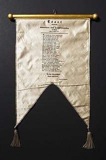 Flag med påtrykt digt