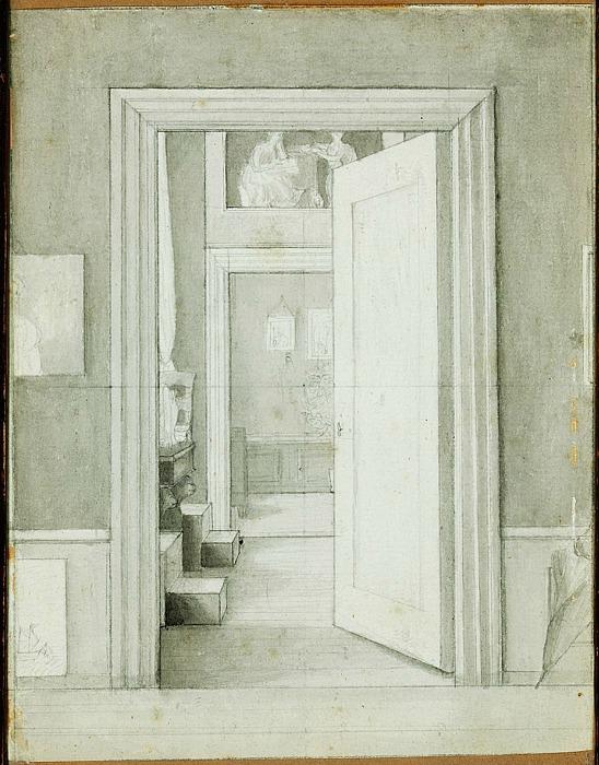 C. W. Eckersberg: Interiør fra kunstnerens bolig