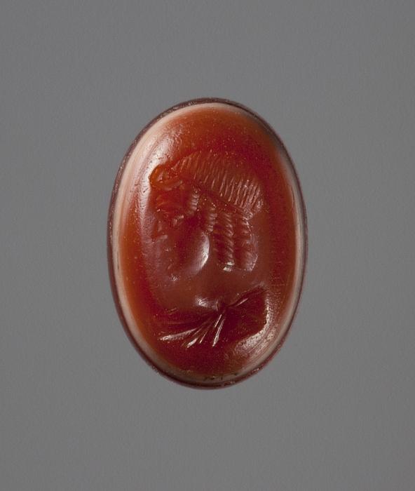 Buste af Apollon. Hellenistisk-romersk ringsten