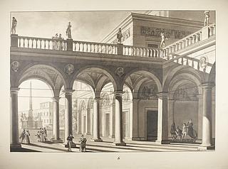 Palads i romersk stil med Monte Cavallo i baggrunden