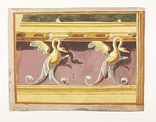Vægdekoration fra Napoli, detalje