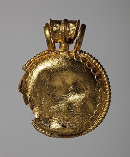 Amuletkapsel (bulla). Etruskisk