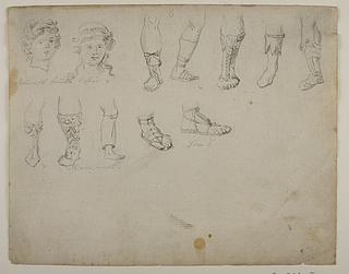 Romerske frisurer og fodtøj
