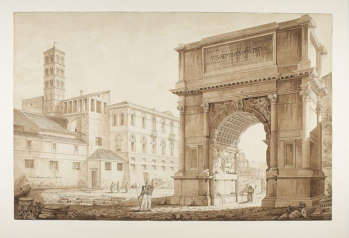 Prospekt af Titusbuen restaureret af Pius 7.