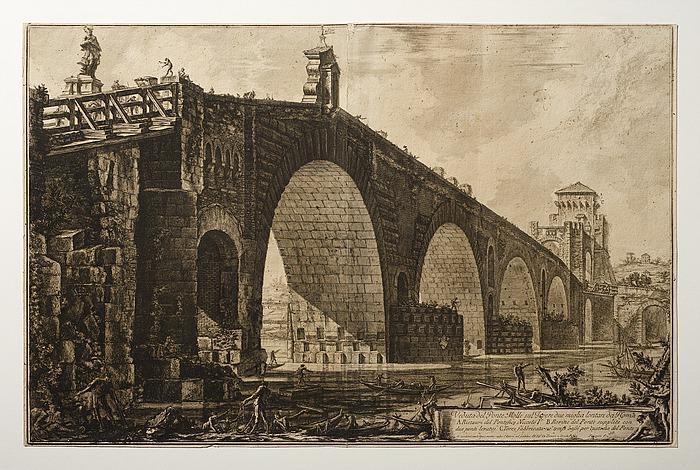 Veduta del Ponte Molle (Prospekt af Ponte Molle)