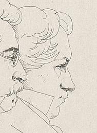 Ernst Meyer: 12 portrætter, Rom 1825, detalje Hillerup