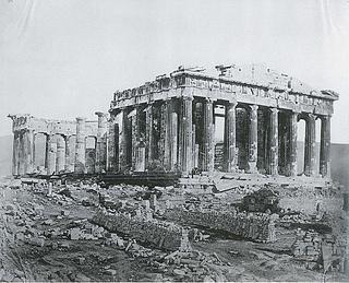 James Robertson: Parthenon set fra nordvest, 1853-54