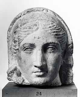 Portrætskulptur af en kvinde. Romersk