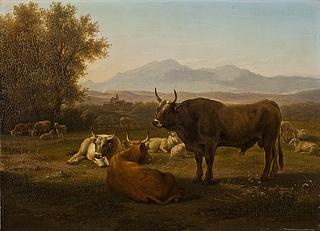 Landskab med kvæg