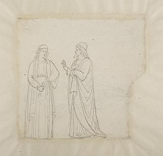 To mandsfigurer i renaissancedragt