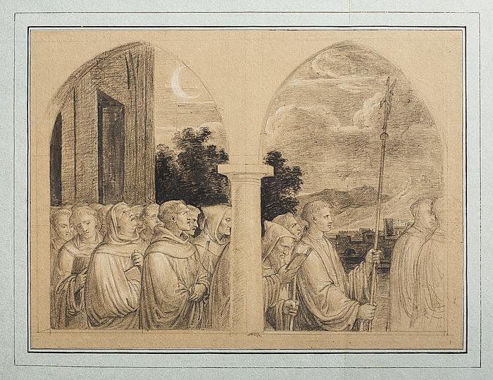 Procession af munke
