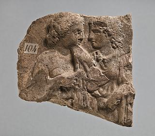 Campanarelief med to kvinder. Romersk