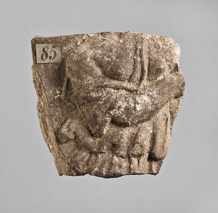Campanarelief med kvindetorso (mænade). Romersk