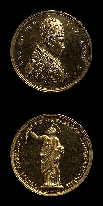 Medalje forside: Leo 12. Medalje bagside: Sankt Peter