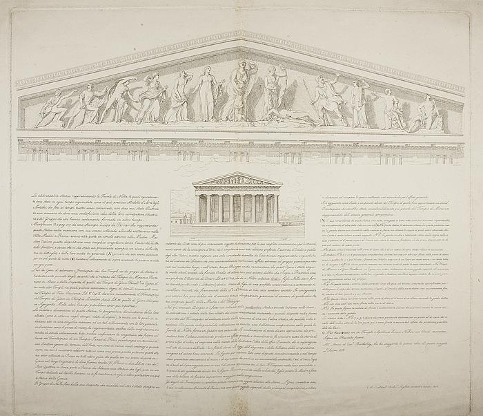 Tempel pediment med Niobidegruppen