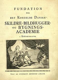 Fundation for Det Kongelig Danske Skildre-, Bildhugger- og Bygnings-Academie i Kiöbenhavn, 1754