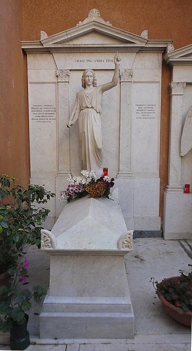 Charlotte Frederikke, grav, Campo Santo Teutonico