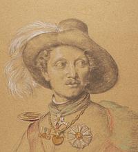 Maleren Friedrich Nerly som il toro bandito