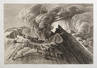 Ausbrud der Etnas im Jahr 1838