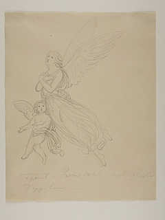 Svævende engel og kerub