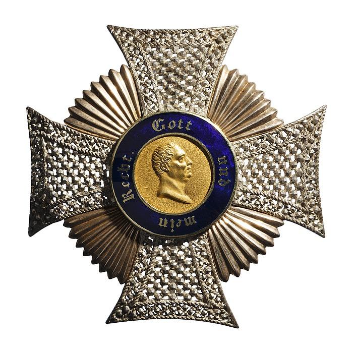 Bryststjerne til den württembergske Friedrichs-orden