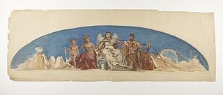 Herkules, Venus og Amor, til lunette dekoration
