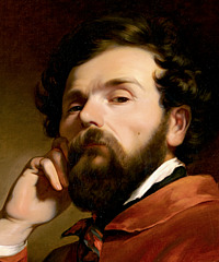 Friedrich von Amerling: Selvportræt, udsnit