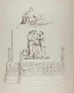Monument over Antonio Canova