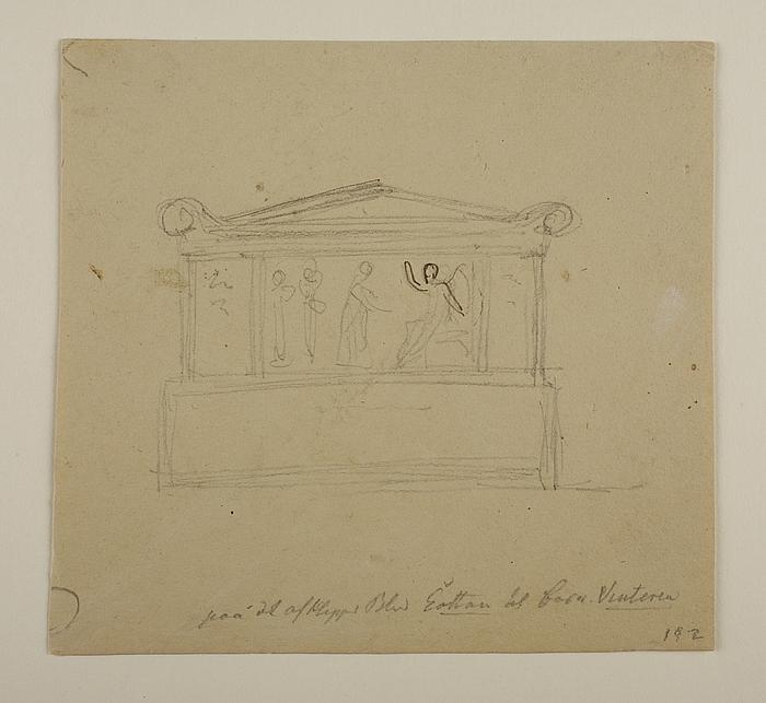 Sarkofag med relieffet Kvinderne (De tre Marier) ved graven